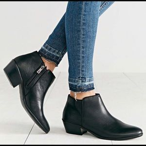 Sam Edelman Black Leather Petty Boots 7.5 EUC